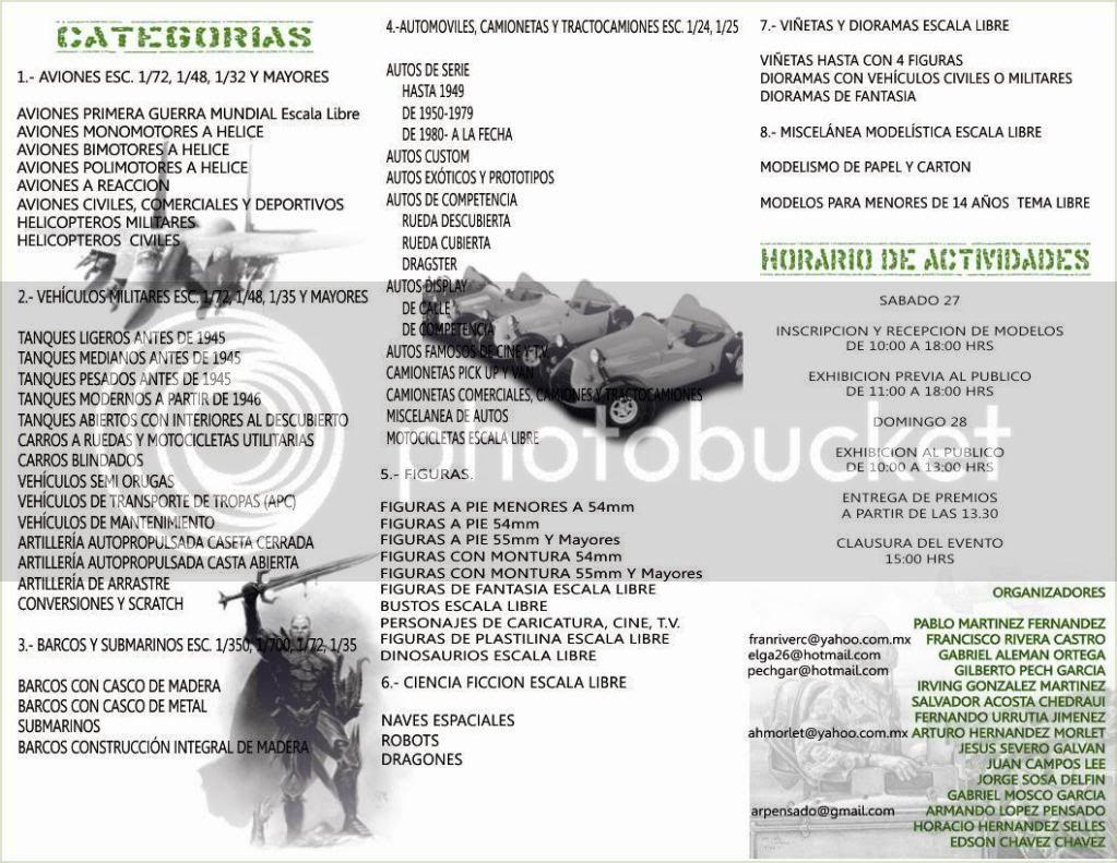 """XIII Edición del Concurso """" IPMS VERACRUZ"""" 2011, 27 y 28 Agosto ¡¡ TripticoII"""