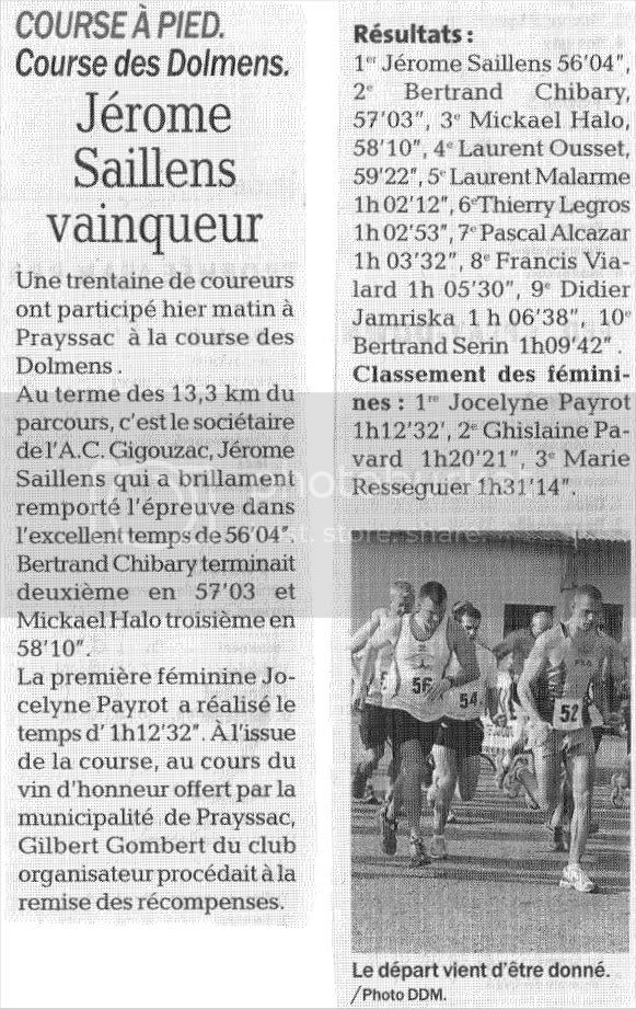 """Les dolmens"" à Prayssac, course du 11.04.10 Prayssac"