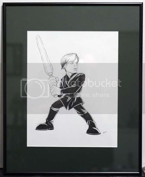 OT: Star Wars Art by Jeff Confer - Page 3 Lukeartframed
