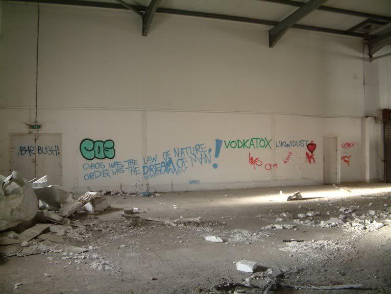 Torrington Creamery (Taddiport) Aug 2010 Graffitti