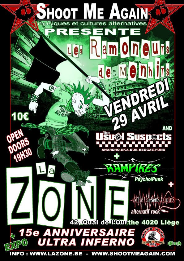 Ramoneurs de Menhirs+Usual Suspects+Rampires+L.Lupins+expo Ram4