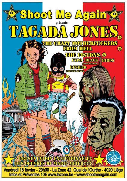 Tagada Jones +T.C.M.F.H + Fistons + J.Dick+expo Marie Meier  TagadaWeb2
