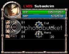 [Bentilus Guide] 3 Active Lvl25stats
