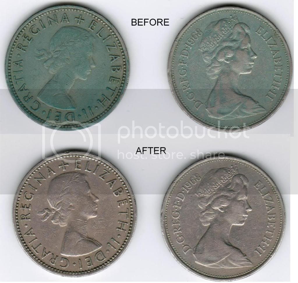 Cleaning coins / bank notes Patina3