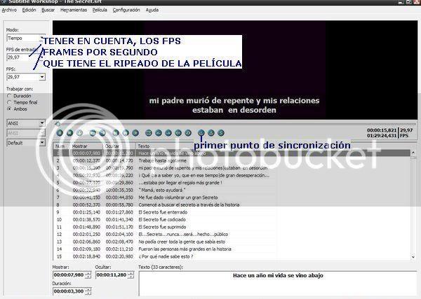 Tutorial para sincronizar subtitulos con el Subtitle Workshop. 4sw