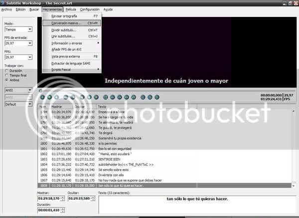 Tutorial para sincronizar subtitulos con el Subtitle Workshop. 6sw