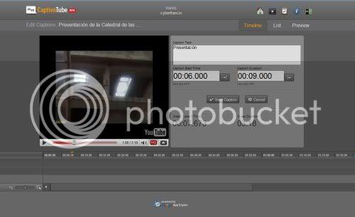 Crea subtítulos de Youtube con CaptionTube Captiontube