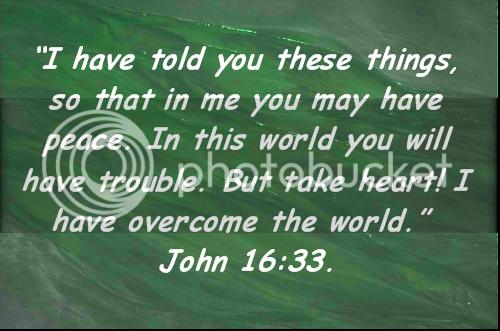 Words of Encouragement John16-33