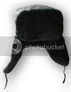 Headgear Ushanka-leather