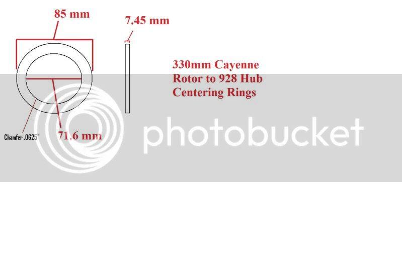 LS-460 Big Brake kit 330mmCayenneRotor928Centeringrings