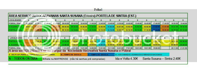 Área de Serviço para autocaravanas de Santa Susana - Sintra HorriostransporteemSantaSusana-Sintra