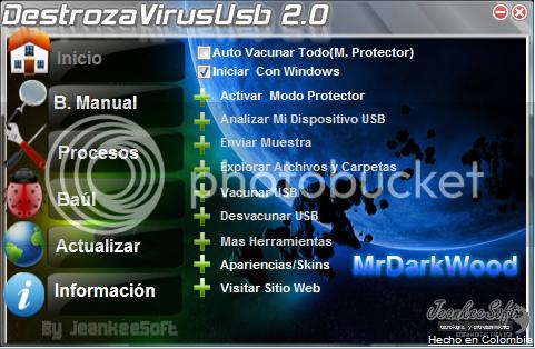 Destroza Virus Usb 2.0.2.0 DestrozaVirusScreen