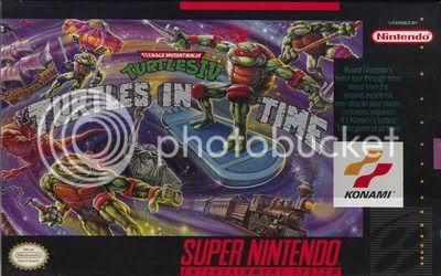 Los Mejores 100 juegos de Super Nintendo en Portables PC TeenageMutantNinjaTurtlesIVTurtlesinTimeUSAugust1992_front