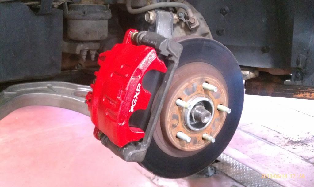 Write Up Gxp Brake Caliper Rotor Conversion