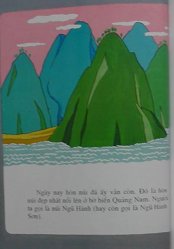 Sự tích núi Ngũ Hành - Truyện tranh Truyen047