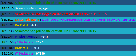 The New Chat FTW Thread RAINBOWS