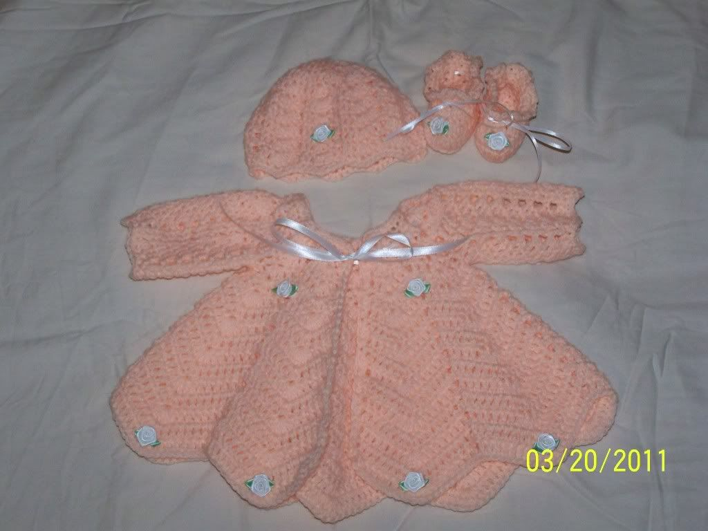 "new Angel Wings Sweater Sets 19/21"" newborn and preemie  004-15"