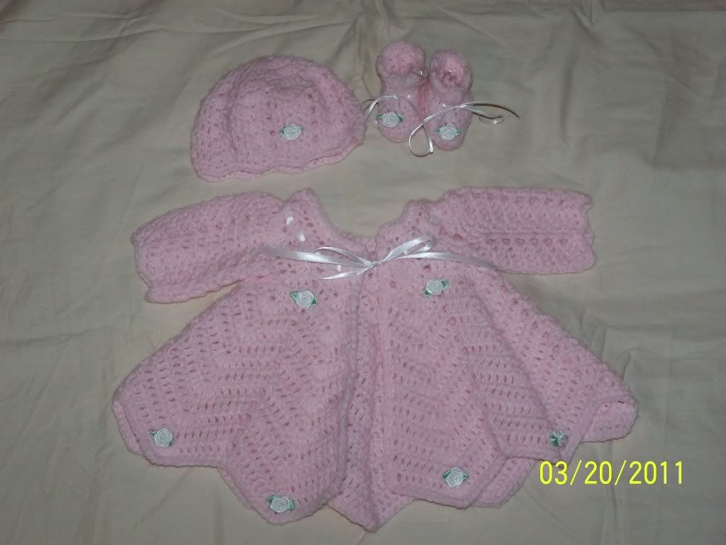 "new Angel Wings Sweater Sets 19/21"" newborn and preemie  007-15"