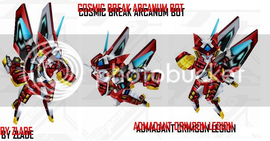 2nd Beta skin: Admandant Crimson/Arc Legion; KG skin CrimsonLegion