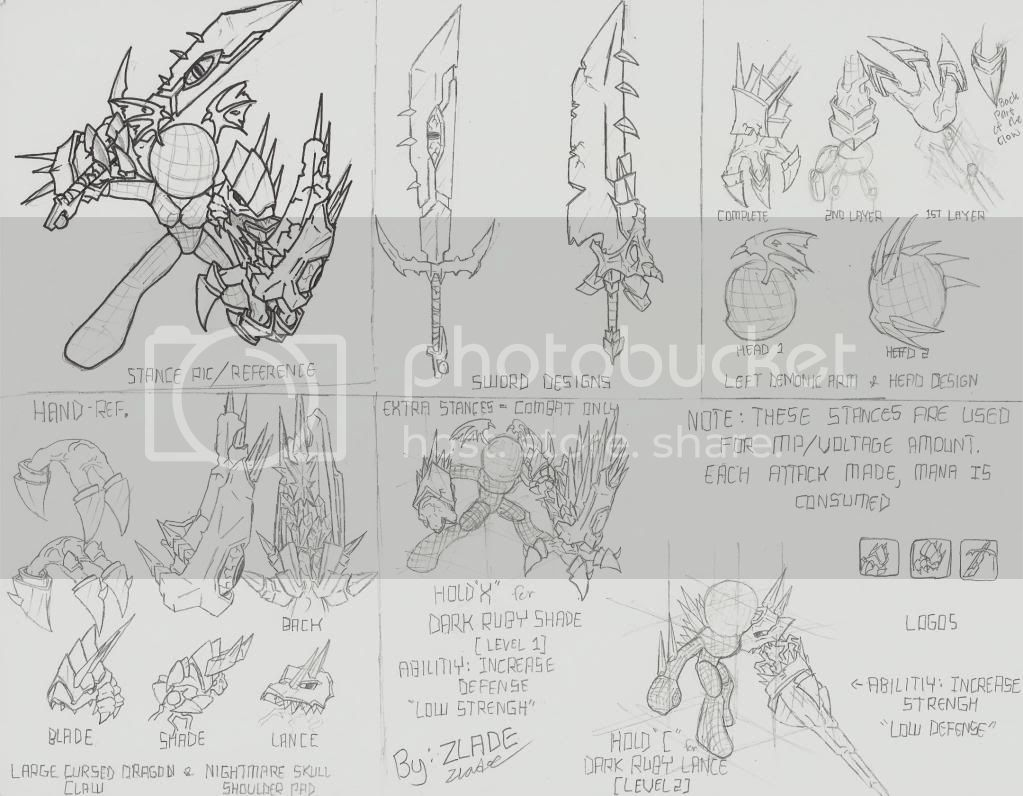 Zlade's Accessory Design: Sheet 2 Updated (Run & Walk) CurseoftheRubyDragonDesignSheet1