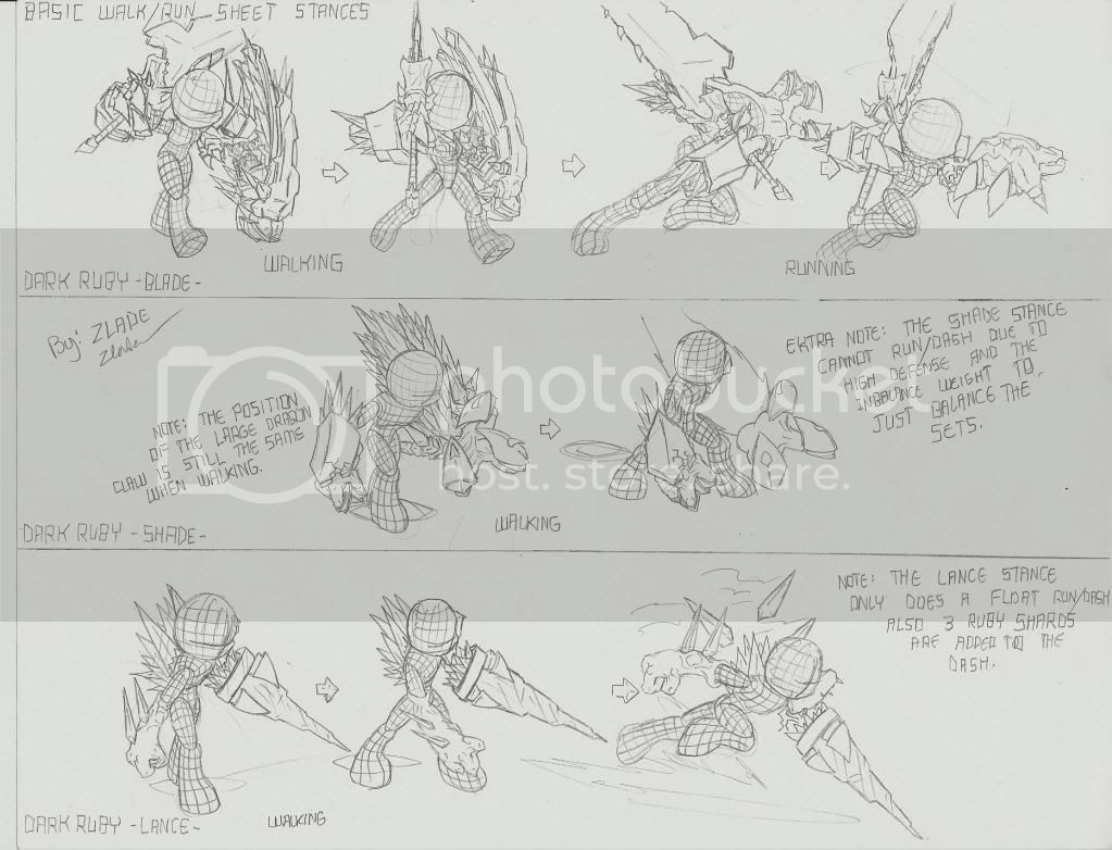 Zlade's Accessory Design: Sheet 2 Updated (Run & Walk) CurseoftheRubyDragonDesignSheet2