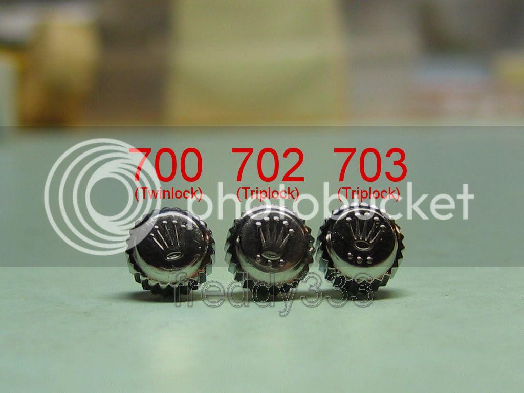 Reference couronne Rolex pour Tudor 7016 Crowns0021