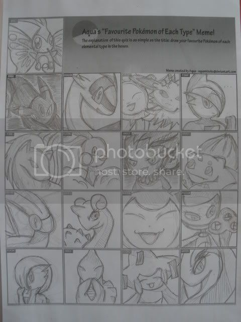Draw your favorite Pokémon of each type~~~ P1010834
