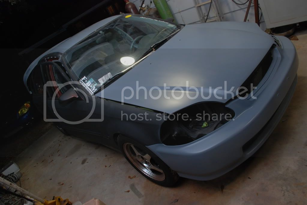 97 civic 4 door build Ninaspaintjobandrustyscleancar003
