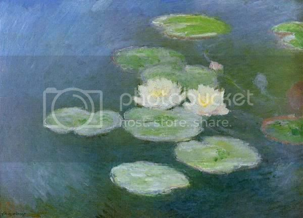 Ancient Egyptian Erotica Symbolism Water-Lilies-Evening-Effect