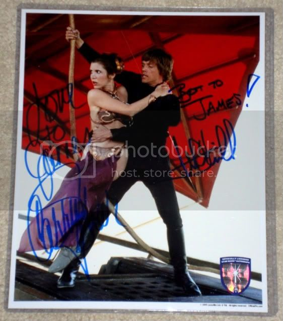 ***UPDATE***   Vintage Star Wars Trilogy Autograph Collection LeiaLukeauto