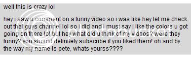 Weirdest Random YouTube Private Messages Wtf2