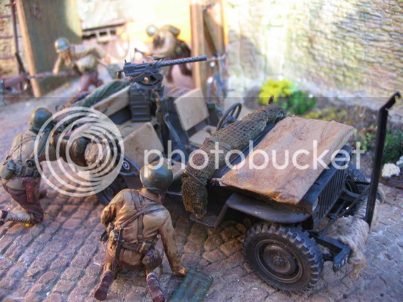 Normandie 1944 - Jeep ITALERI et Panzer Luchs ICM - 1/35 Dioluchs-2