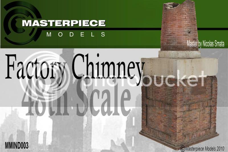 MASTER PIECE MODEL - cheminée d'usine 1/48 Factorychimney1120