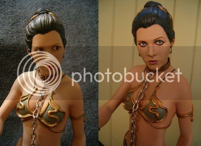 statue Leia Slave Premium Format sideshow - Page 2 EyesComparison