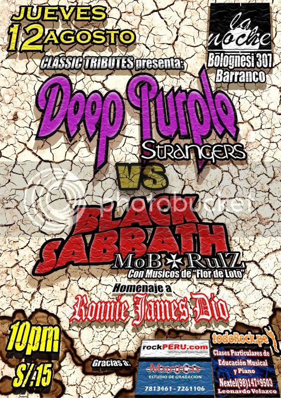 Deep Purple vs Black Sabbath en La Noche (12 de Agosto) AFICHE12AGOSTO