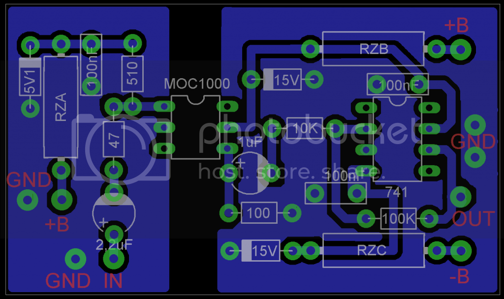 Layout isolador óptico de audio RAIOX_zps10d0a956
