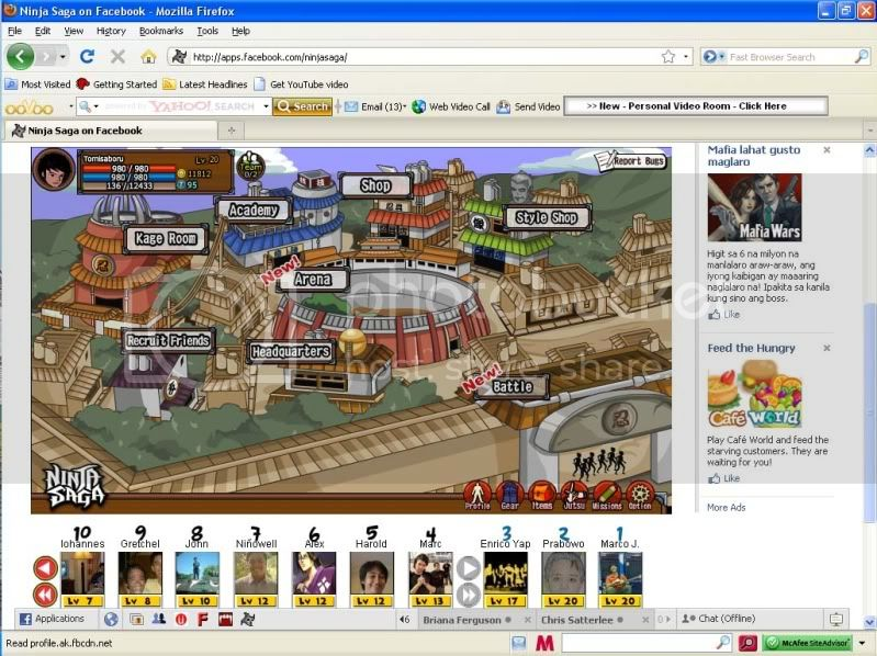 ninja saga facebook NoTokenScreenShot10142009