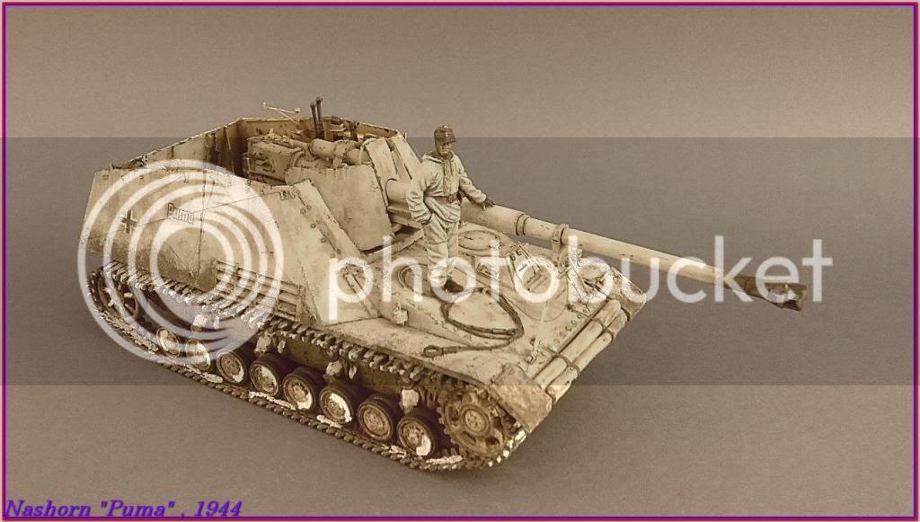 """Sd.Kfz 164- NASHORN """"Puma"""" , Smolensk 1944 142ordmNashornPumapeazo-gato"""