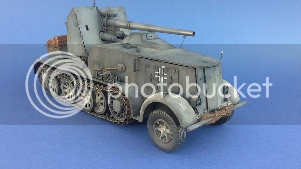 German 8.8cm FlaK 18 Selbstfahrlafette  162ordmsemi-oruga88mmpeazo-gato