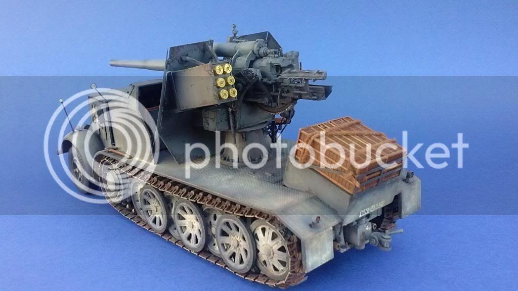 German 8.8cm FlaK 18 Selbstfahrlafette  168ordmsemi-oruga88mmpeazo-gato