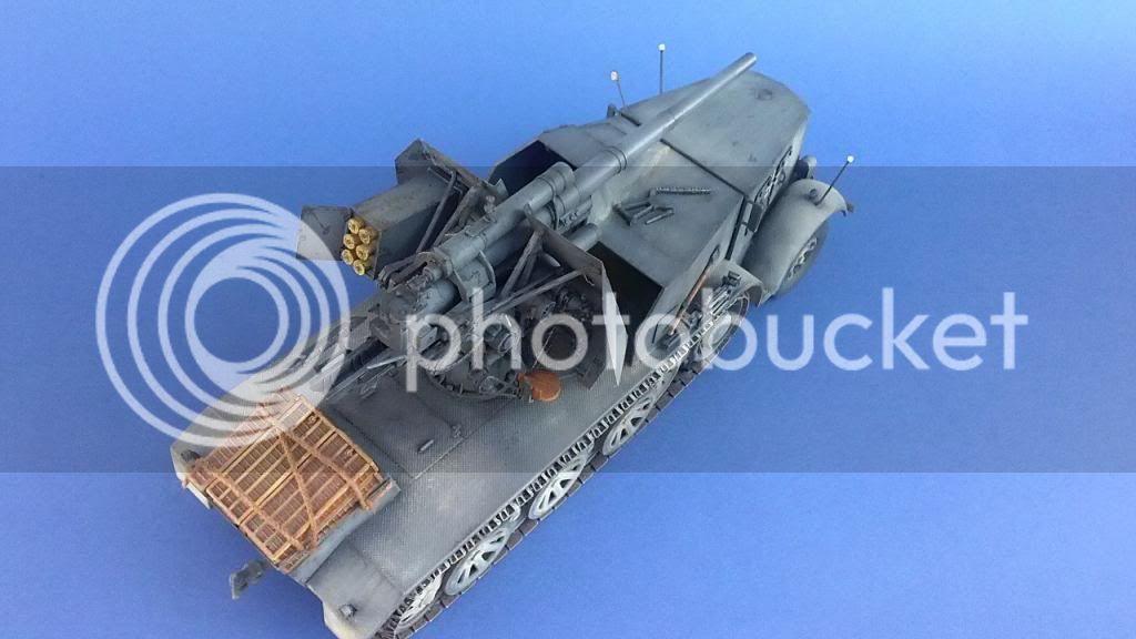 German 8.8cm FlaK 18 Selbstfahrlafette  172ordmsemi-oruga88mmpeazo-gato
