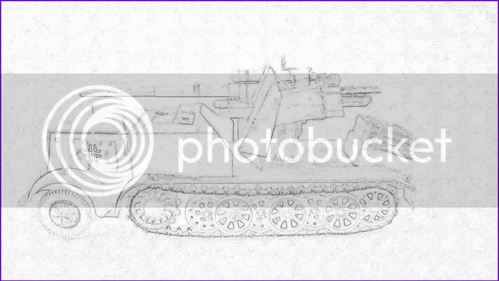 German 8.8cm FlaK 18 Selbstfahrlafette  175ordmsemi-oruga88mmpeazo-gato