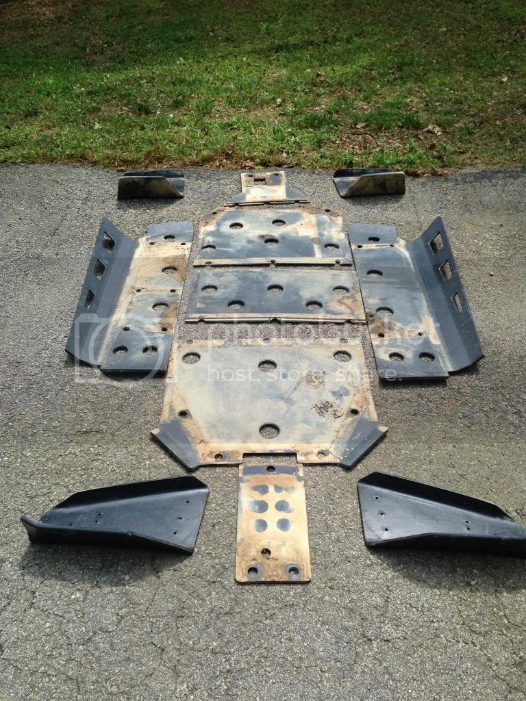 For sale used set of RZR-S UHMW skid plates Photo2_zps6807c4b0