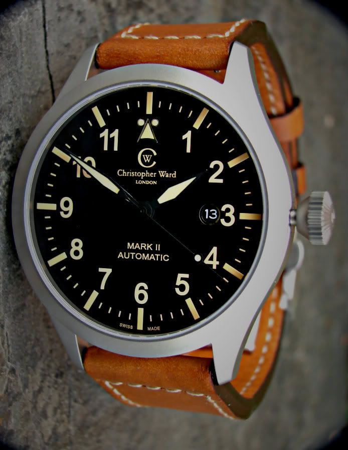 My Newest............Christopher Ward  C8 PILOT MK II - VINTAGE EDITION C8-SVKT-MK2 DSC06874-1