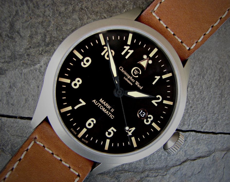 My Newest............Christopher Ward  C8 PILOT MK II - VINTAGE EDITION C8-SVKT-MK2 DSC06887-1-1
