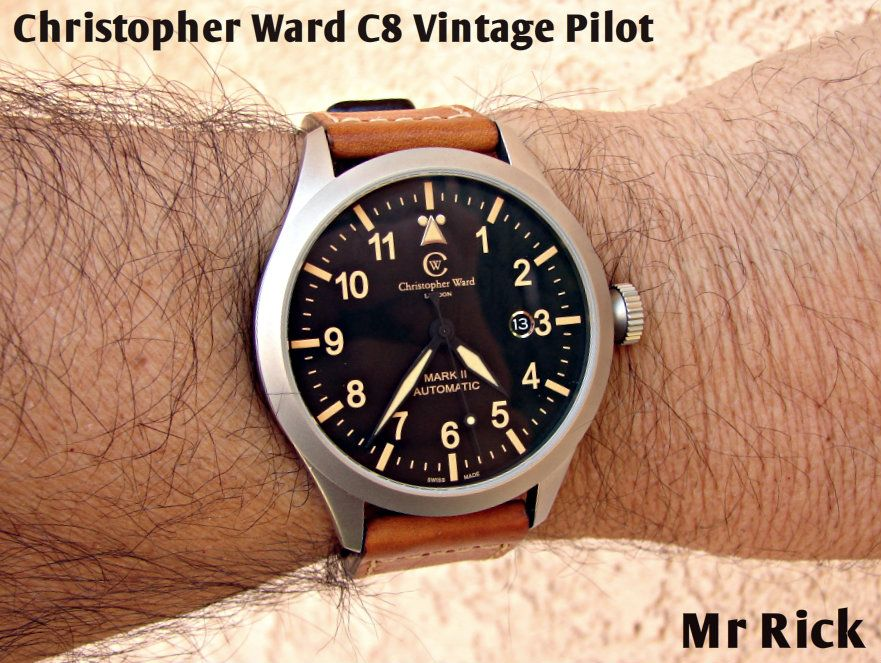 My Newest............Christopher Ward  C8 PILOT MK II - VINTAGE EDITION C8-SVKT-MK2 DSC06901-1