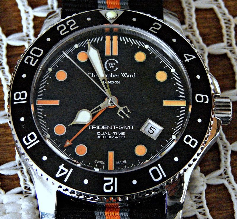 My New Christopher Ward C60 Trident GMT Acwgmt