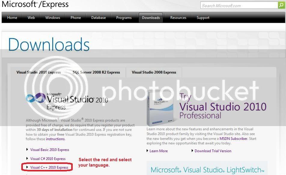 Microsoft visual c++ express 2010 ScreenShot006