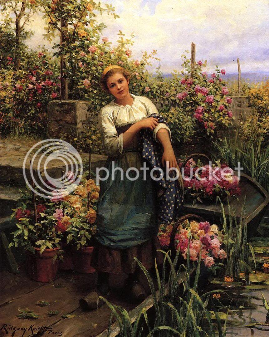 لوحات زيتيه رائعة حصريا فقط علي منتديات الزخرفة والاعلان Knight_Daniel_Ridgway_The_Flower_Boat