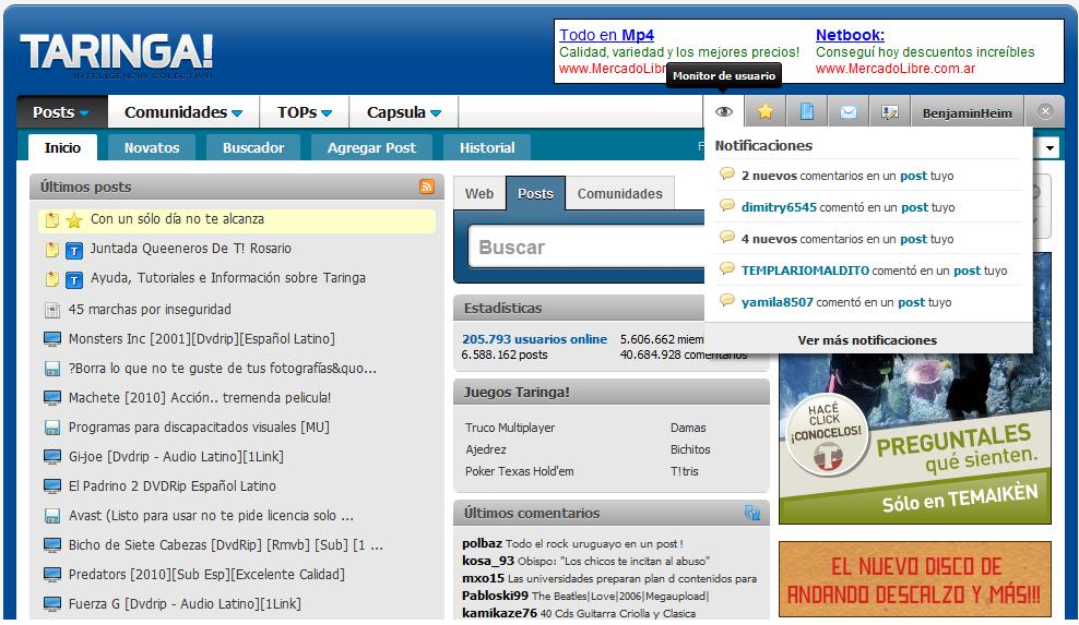 Monitor de Usuarios o Sistema de notificaciones [10 Noviembre] Monitor